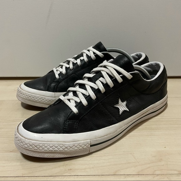 Converse one star black leather Size 8.5